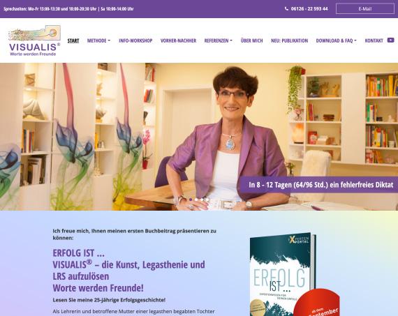 Screenshot der Greven Fullservice Website für Visualis