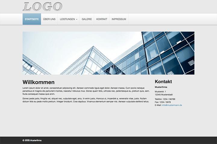 Basic Homepage Template 2